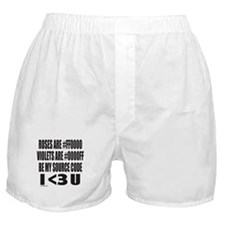 BE MY SOURCE CODE Boxer Shorts