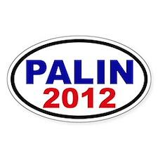 Palin 2012 Oval Sticker (50 pk)