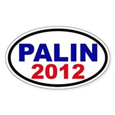 Palin 2012 Oval Sticker (10 pk)