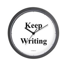 Cute Write, revise, repeat Wall Clock