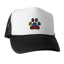 Stained Glass Rainbow Paw Trucker Hat