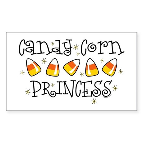 Candy Corn Princess Rectangle Sticker