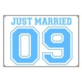 Just Married 09 (Blue) Banner