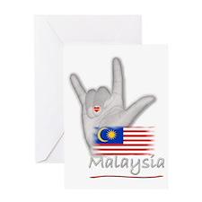 I Love You - Malaysia - Greeting Card