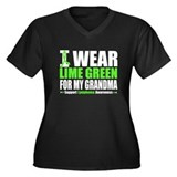 I Wear Lime Green Grandma Women's Plus Size V-Neck
