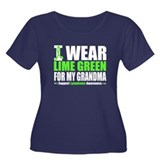 I Wear Lime Green Grandma Women's Plus Size Scoop