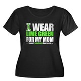 I Wear Lime Green For Mom Women's Plus Size Scoop