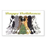 N6 HHXMAS Rectangle Sticker 50 pk)
