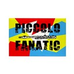 Piccolo Fanatic Rectangle Magnet