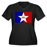 San Antonio Texas Women's Plus Size V-Neck Dark T-