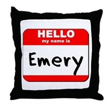 Hello my name is Emery Throw Pillow