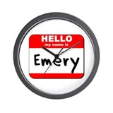 Hello my name is Emery Wall Clock
