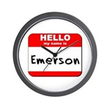 Hello my name is Emerson Wall Clock