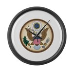 Presidents Seal Large Wall Clock