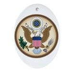 Presidents Seal Oval Ornament