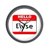 Hello my name is Elyse Wall Clock