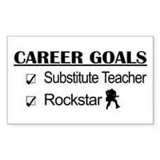 Substitute Teacher Career Goals - Rockstar Decal