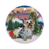 Yorkshire Terrier Christmas Keepsake (Round)
