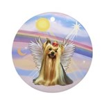 Yorkshire Terrier Angel Keepsake (Round)