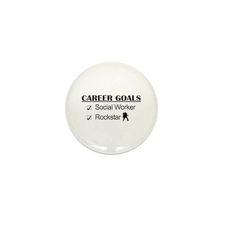 Social Worker Career Goals - Rockstar Mini Button