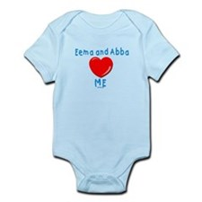 Eema and Abba Love Me Jewish Infant Bodysuit