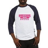 Homeschool XXL Athletics Hot Pink Baseball Jersey
