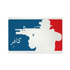 Major League type Infidel Rectangle Magnet (10 pac