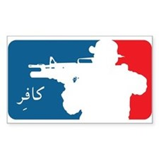Major League type Infidel Rectangle Decal