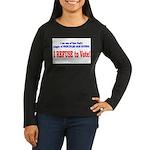 NO VOTE #3 Women's Long Sleeve Dark T-Shirt