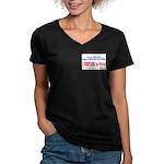 NO VOTE #3 Women's V-Neck Dark T-Shirt