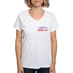 NO VOTE #3 Women's V-Neck T-Shirt