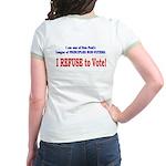 NO VOTE #3 Jr. Ringer T-Shirt
