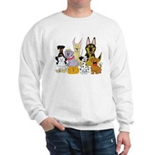 Cartoon Dog Pack Sweatshirt