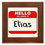 Hello my name is Elias Framed Tile