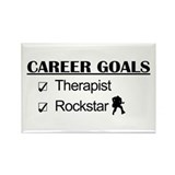 Therapist Career Goals - Rockstar Rectangle Magnet