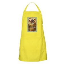 Vintage Rural Thanksgiving Greetings BBQ Apron
