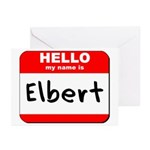 Hello my name is Elbert Greeting Cards (Pk of 10)