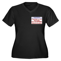 No VOTE #2 Women's Plus Size V-Neck Dark T-Shirt