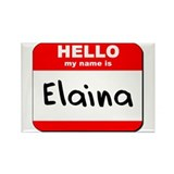 Hello my name is Elaina Rectangle Magnet