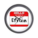 Hello my name is Efrain Wall Clock