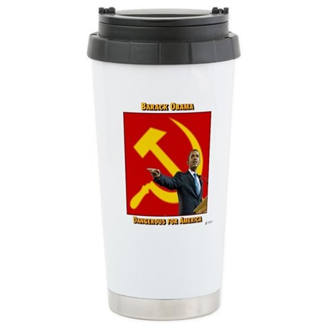 Dangerous Obama Ceramic Travel Mug