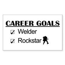 Welder Career Goals - Rockstar Rectangle Decal