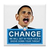 Obama-style CHANGE Tile Coaster