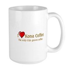 I Love Kona Coffee Mug