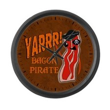 Bacon Pirate Large Wall Clock