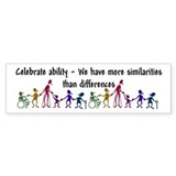 """Celebrate Ability"" Bumper Sticker"