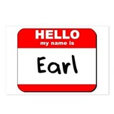 Hello my name is Earl Postcards (Package of 8)