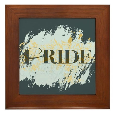 I Ride Framed Tile