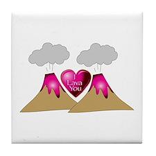 I Lava You Tile Coaster