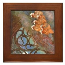 Poe's The Bells, Angels Framed Tile